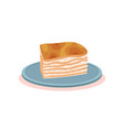 puff milk pastry cake with cream bulgarian vector image
