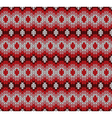 red knitted pattern vector image vector image