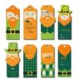 saint Patricks day gift tags vector image