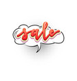sale pop art splash cloud comic text speech vector image vector image