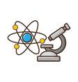 science chemistry microscope molecule vector image vector image