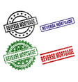 scratched textured reverse mortgage seal stamps vector image