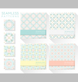 Set of colorful seamless patterns 2 vector image vector image