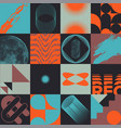 set sixteen colorful abstract postmodernism