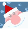 Smiling Santa Claus Head vector image vector image