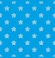 starfish pattern seamless blue vector image vector image