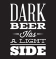 stylized quote on the topic of beer white vector image vector image