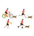 summer sport outdoors activities set vector image vector image