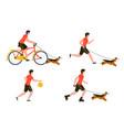 summer sport outdoors activities set vector image