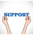support word sticker in hand vector image