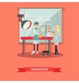 Surgical operation in vet clinic concept vector image