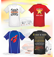 t-shirts design vector image