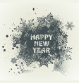template grunge happy new year 2017 design with vector image