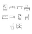 thin line furniture icon set vector image vector image