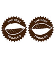 tobacco the best sticker vector image vector image