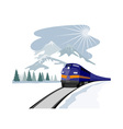 Train and landscape vector image vector image