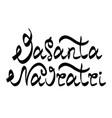 vasanta navratri lettering vector image