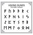 viking runes - elder futhark alphabet vector image