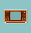 Vintage TV 1 vector image vector image