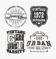 vntage stamp set vector image
