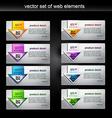 web element set vector image vector image