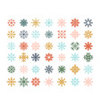 winter snowflakes christmas logo ice crystal vector image vector image