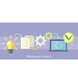 Working on Project Management and Strategy vector image