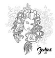 zodiac of leo as girl with flowers vector image