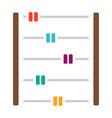 abacus education icon school vector image