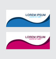 abstract design banner web template vector image vector image