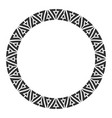 Abstract round meander circular geometric