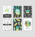 Abstract tropical poster templates set vector image