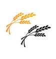 agriculture wheat logo template icon design in vector image