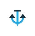 anchor colorful icon symbol premium quality vector image