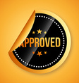 approved seal vector image vector image