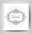 art deco wedding invitation save date card vector image vector image