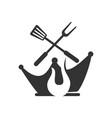 barbecue king spatula logo template badge design vector image