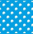 baseball helmet pattern seamless blue vector image vector image