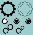 black different simple gear vector image