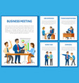 business meeting and dismissal of workers set vector image vector image