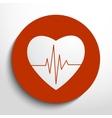 cardiogram or heart rhythm medical icon vector image vector image