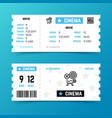 cinema entrance ticket template in modern vector image vector image