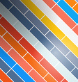 Colorful Abstract Retro Rectangles - Bricks vector image