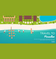 colorful travel to paradise tropical beach best vector image vector image