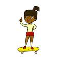 Comic cartoon skater girl