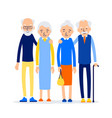 couple older people two aged people stand elderly vector image vector image