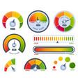 credit score bad or good meter set vector image