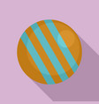 croquet ball icon flat style vector image vector image
