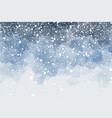 dark blue night sky with snow falling watercolor vector image