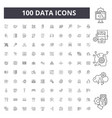 data line icons signs set outline vector image vector image